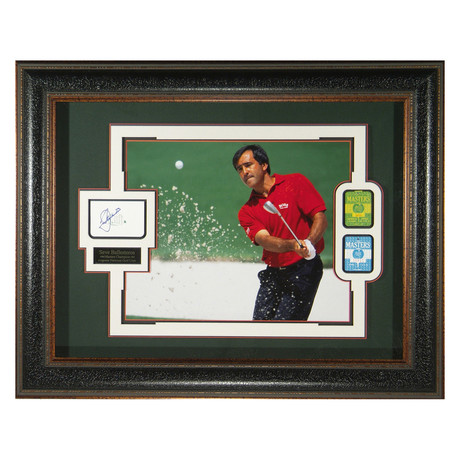 Seve Ballesteros // Autographed Display