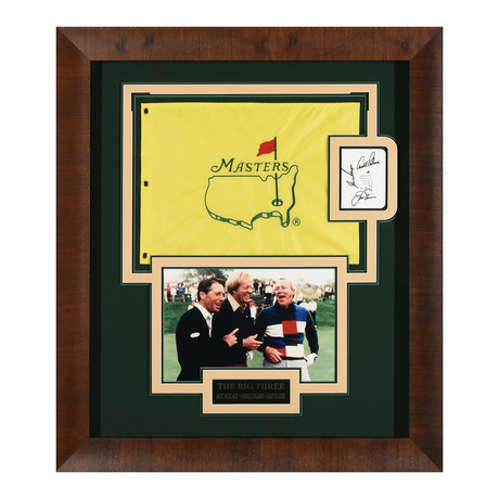 The Big Three // Jack Nicklaus + Arnold Palmer + Gary Player // Autographed Display