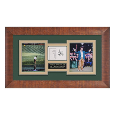 Fred Couples // Autographed Scorecard Display