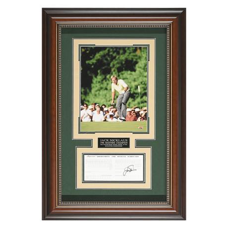 Jack Nicklaus // Autographed Scorecard Display