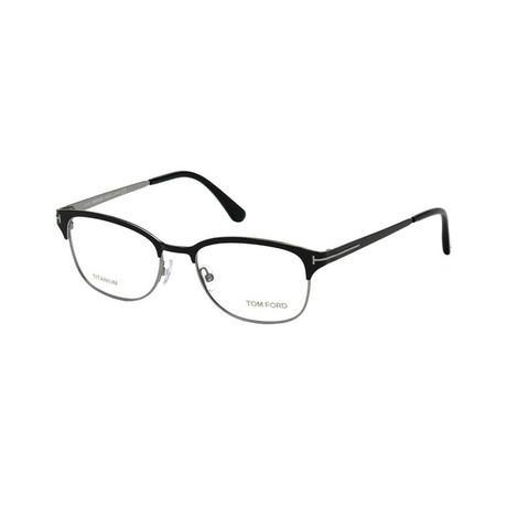 Men's Optical Frames // Black + Silver