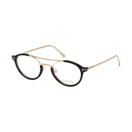 Men's Optical Frames // Black + Gold