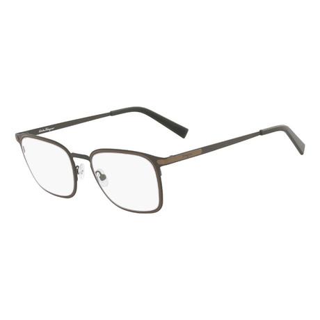 Ferragamo // Men's Optical Frames // Matte Olive