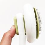Concepto // Modern Bristle Pet Deshedder Comb (Green)