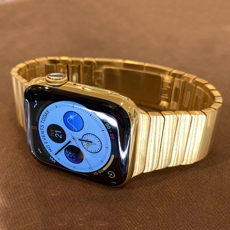 24K Gold // Apple Watch Series 6 // Gold Links Band // 44mm