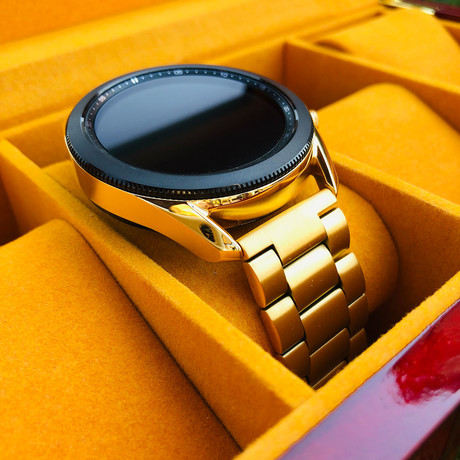 24K Gold 45mm Galaxy Smart Watch 3 // Gold Links Band // 45 mm // 2020 Release