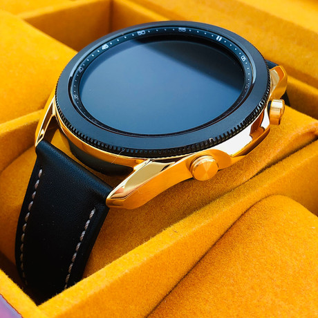 24K Gold 45mm Galaxy Smart Watch 3 // Leather Band // 45mm // 2020 Release