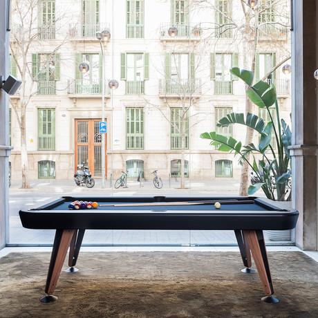 Diagonal Outdoor Pool Table // 8ft. (White)