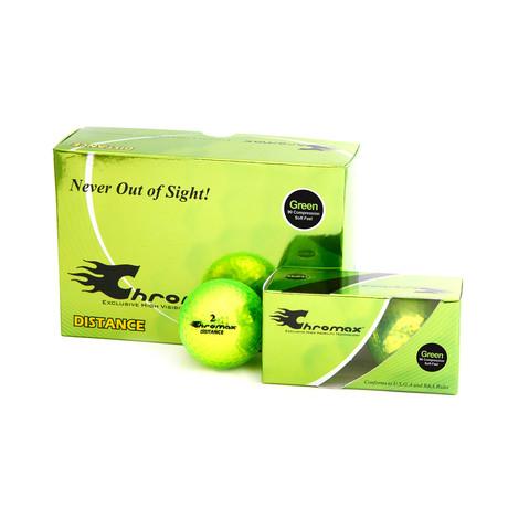 Metallic Distance Golf Balls // 6 Ball Pack (Neon Green)
