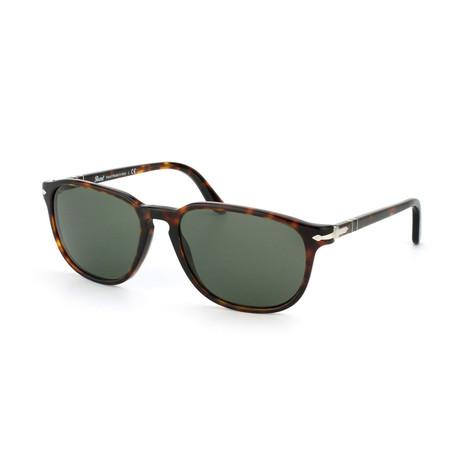 Men's Classic Square Sunglasses // Havana + Green