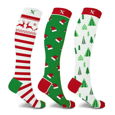 Holiday Collection Knee High Compression Socks // 3-Pairs (Small / Medium)