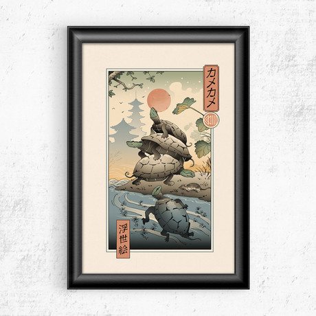 "Teenage Turtle Tower Ukiyo-e (11""W x 17""H)"