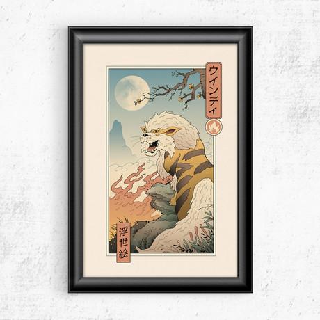 """Fire Canine Ukiyo-e (11""""W x 17""""H)"""