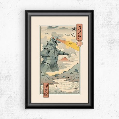 "Mecha Kaiju Ukiyo-e (11""W x 17""H)"