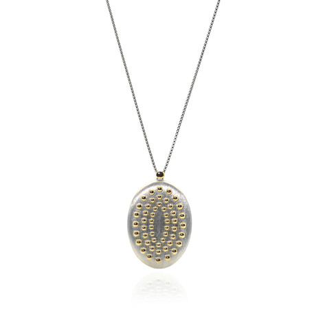 """John Hardy // Sterling Silver + 18k Yellow Gold Dot Necklace // 36"""" // Store Display"""