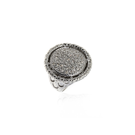 John Hardy Sterling Silver Diamond Legends Ring // Ring Size: 7 // Store Display