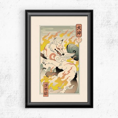 """Okami Ukiyo-e (11""""W x 17""""H)"""