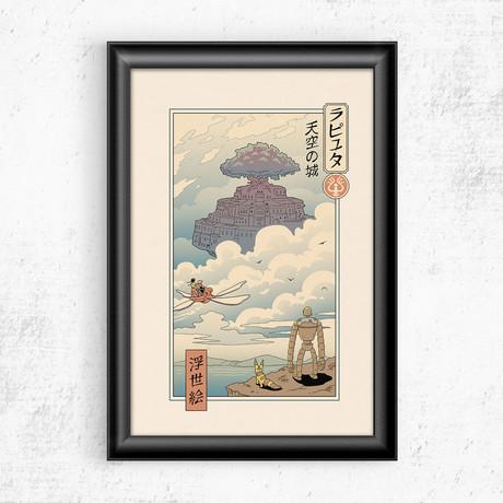 """Ukiyo-e Sky Castle (11""""W x 17""""H)"""