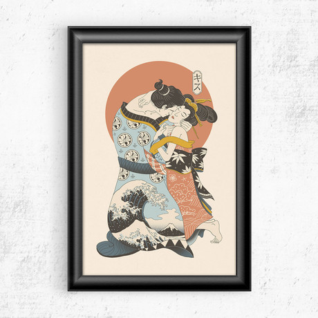 "The Kiss Ukiyo-e (11""W x 17""H)"