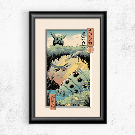 "Ukiyo-e Wind Valley (11""W x 17""H)"