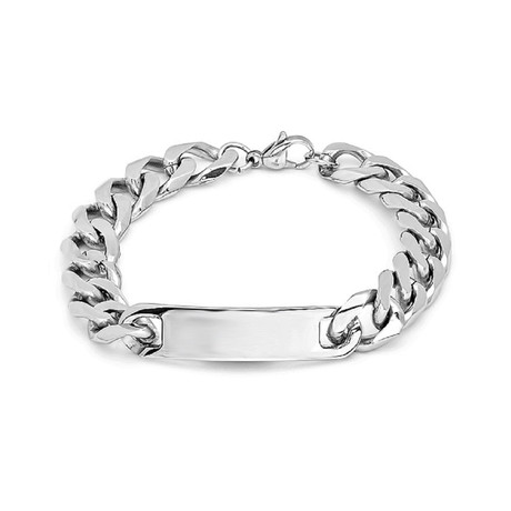Stainless Steel Chain Bracelet (Metallic)