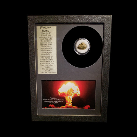 Fragment of First Atomic Bomb + Collectors Box