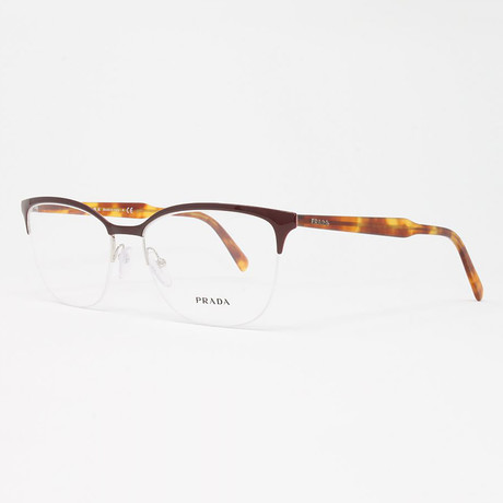 Men's PR53VV Optical Frames // Bordeaux + Havana