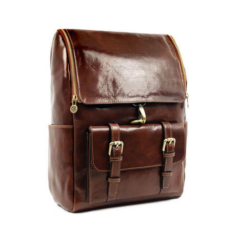 The Odyssey // Leather Backpack // Brown