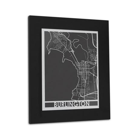 Stainless Steel Map // Burlington