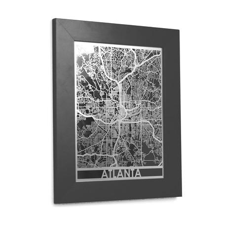 Stainless Steel Map // Atlanta