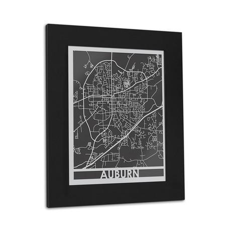 Stainless Steel Map // Auburn