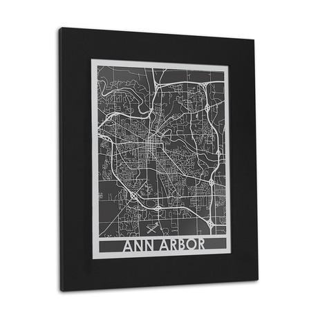 Stainless Steel Map // Ann Arbor