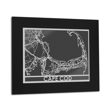 Stainless Steel Map // Cape Cod