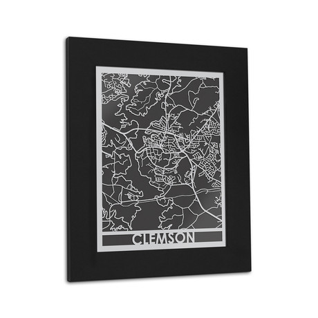 Stainless Steel Map // Clemson