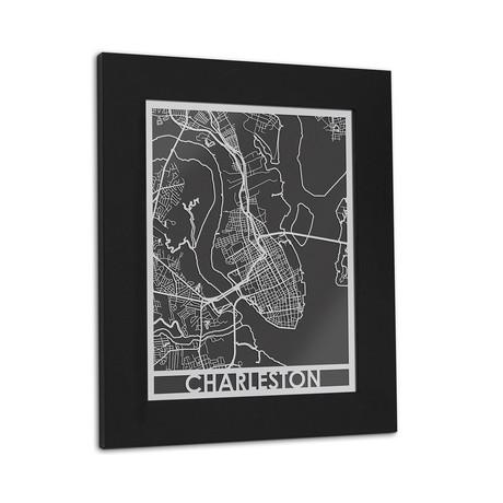 Stainless Steel Map // Charleston