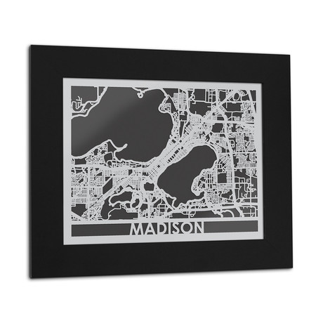 Stainless Steel Map // Madison