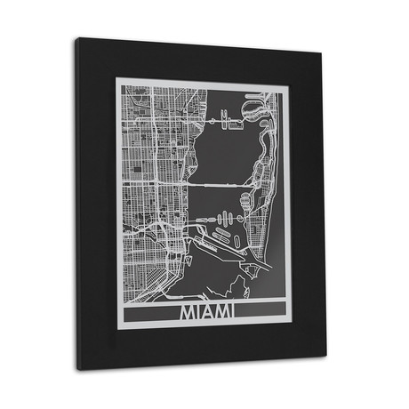 Stainless Steel Map // Miami