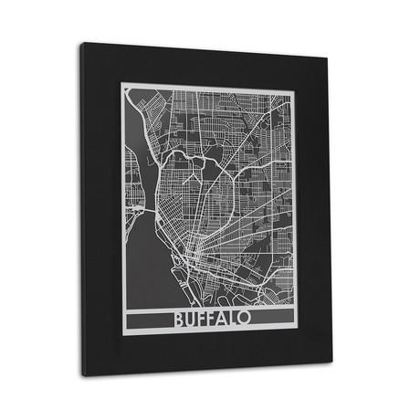 Stainless Steel Map // Buffalo