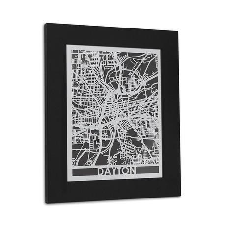 Stainless Steel Map // Dayton