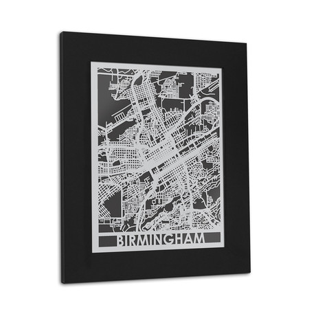 Stainless Steel Map // Birmingham