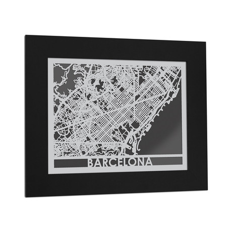 Stainless Steel Map // Barcelona