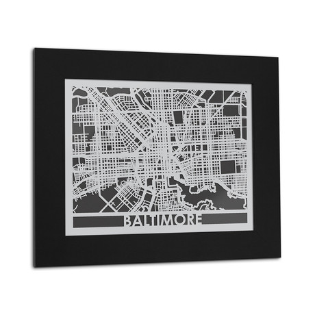 Stainless Steel Map // Baltimore