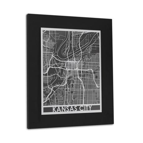 Stainless Steel Map // Kansas City