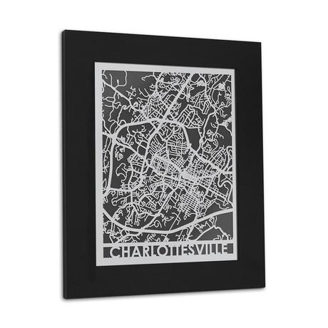 Stainless Steel Map // Charlottesville