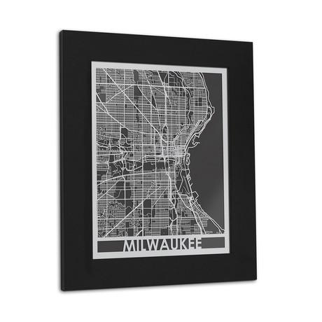Stainless Steel Map // Milwaukee