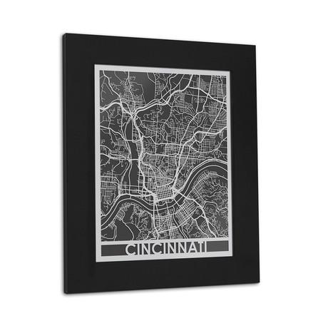 Stainless Steel Map // Cincinnati