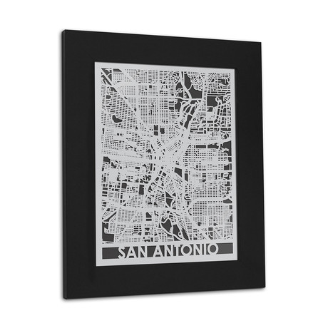Stainless Steel Map // San Antonio