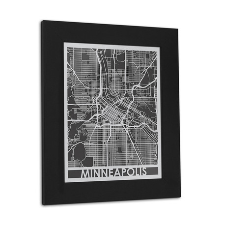 Stainless Steel Map // Minneapolis
