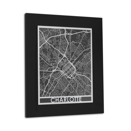 Stainless Steel Map // Charlotte