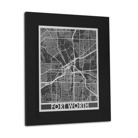 Stainless Steel Map // Fort Worth